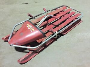 Rare Vintage Withington Bob O Link Bobsled Steering Snow Sled  w/ Brake
