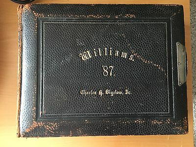 VINTAGE VICTORIAN BOUND YEARBOOK: Williams College Class of 1887 Photos by Pach
