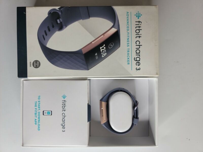 Fitbit Charge 3 Fitness Wristband - Blue Gray/Rose Gold