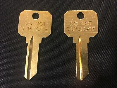 2 Schlage Sc1 Dnd Do Not Duplicate Key Blanks New Ilco 5 Pin Brass Blank