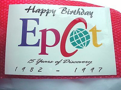 """Disney's EPCOT """"15 Years of Discovery"""" Laminated Sign"""