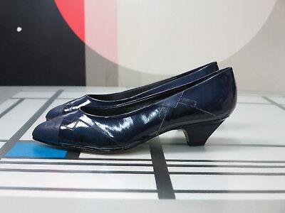 Mälich Damenschuhe Pumps Ballerinas Blau 80er True Vintage 80s Shoes Blue Nos Women's Shoes