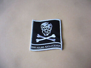 VF-84 JOLLY ROGERS PATCH 1000 FLIGHT HOURS F-14 TOMCAT OCEANA USS NIMITZ CRUISE - France - Country of Manufacture: United States - France