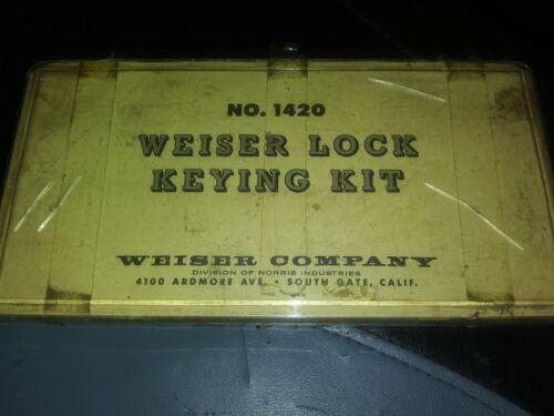 Vintage Weiser Lock Keying Kit No 1420 Re-Pinning Kit