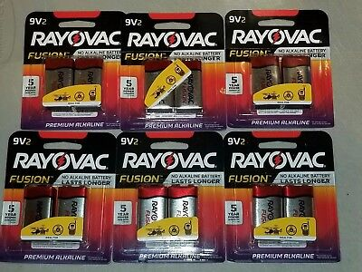 RAYOVAC 9V 12 Pack FUSION Premium Alkaline Batteries Best (Best Premium Batteries)