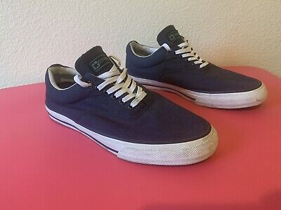 Converse Dark Navy Blue Canvas Boat Sneakers Unisex Shoes Mens 10 ~ Womens 11.5 for sale  Keller