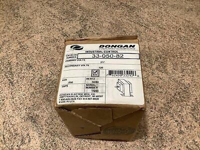 Dongan Industrial Control Transformer Cat. 33-050-82 Pri.277 Sec.120v 0.050kva