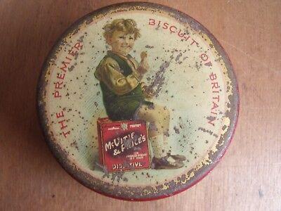 Vintage 1924 McVitie & Price Edward Yerbury sitting on Btscuit Tin Sample Tin