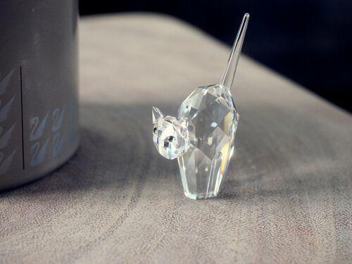 Miniature Swarovski Crystal Tomcat  A7634 NR 000 001 w/ Box, Certificate