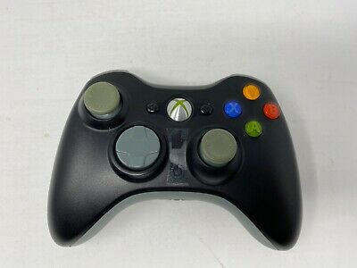 Genuine Microsoft Xbox 360 Wireless Controller 1403 Black/Grey WORKS GREAT
