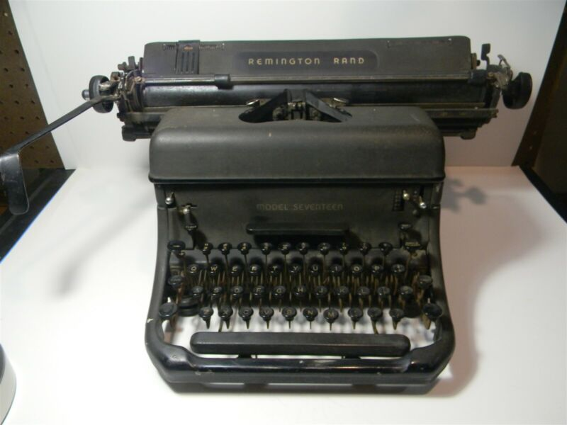 Vintage Remington Rand Model 17 Typewriter