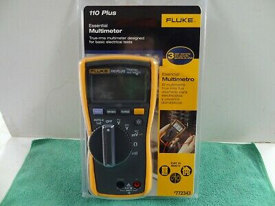 New Fluke 110 Plus True Rms Digital Meter 600-volt Multimeter Test Meter
