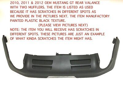 2010 2011 2012 mustang gt 5.0 rear bumper lower valance br3317f954aaw #1 ()