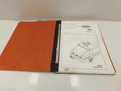 Tennant 355 Sweeper Scrubber Parts Manual Shop Service Book E30-452