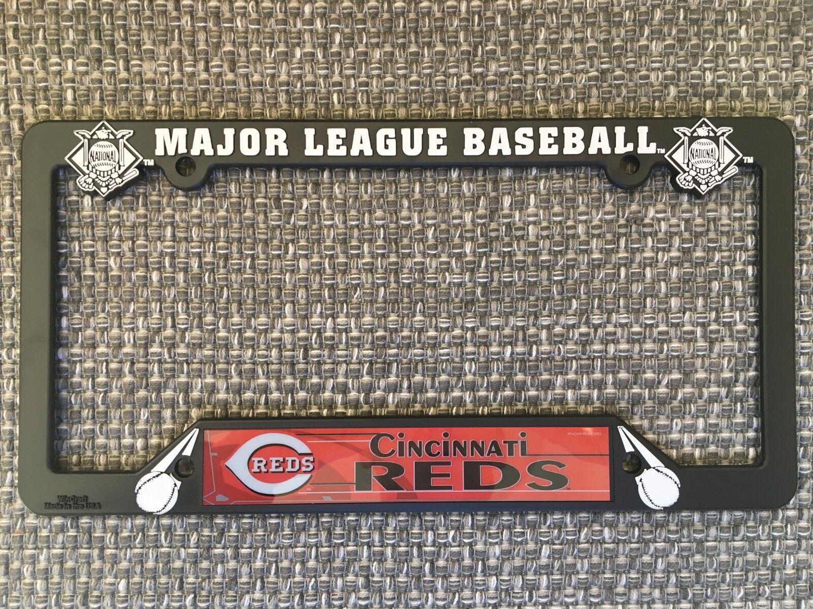 Cincinnati Reds NEW MLB Black Plastic License Plate Frame Ma