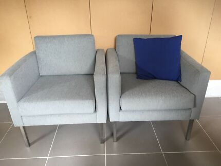 Fabric club chairs  Warrandyte Manningham Area Preview
