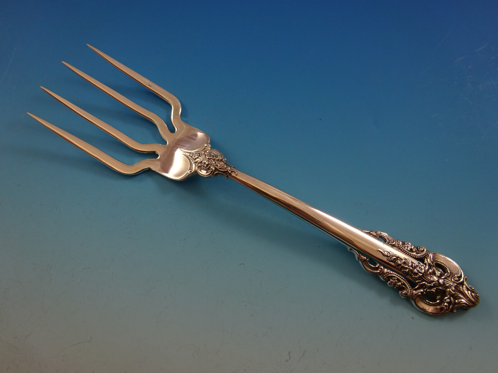 """Grande Baroque by Wallace Sterling Silver Baked Potato Fork Custom Made 7 3//4/"""""""