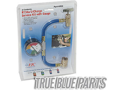 R 134a R 134  AC Refrigerant Hose Can Tap with Gauge with Brass fittings 01436