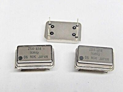 Ndk Crystal Unit Oscillator Quarts 16mhz Lot Of 4 Pcs