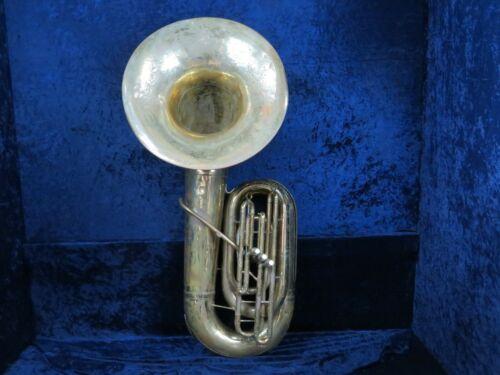 Reynolds Contempora BBb 3 Valve Bell Front Piston Tuba Ser#59378 Plays Well