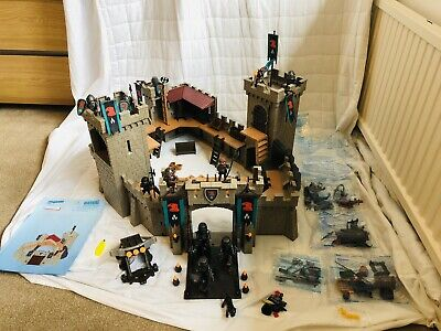 HUGE PLAYMOBIL 4866 FALCON KNIGHTS EXTENDED MEDIEVAL KNIGHTS CASTLE WITH EXTRAS