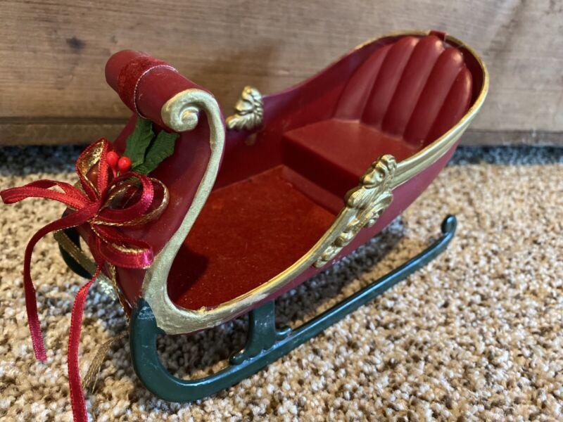 Vintage Hard Plastic Christmas Sleigh