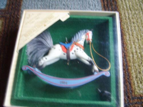 1984  Hallmark Rocking Horse Ornament No. 4th  in Series