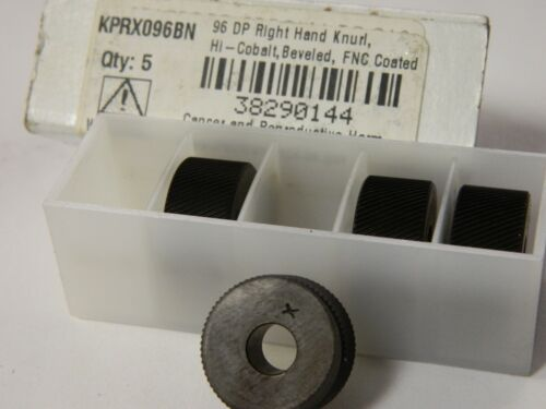 "Pro 3/4"" Diam Beveled Face Form Type Cobalt RH Diagonal Knurl Wheel  QTY 4"