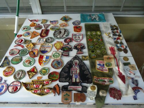 Lot Of Vintage Boy Scout BSA Patches 1950s 60s Badges OA Trail Pins / Medals etc