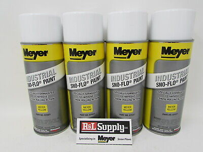 4 Cans Genuine Meyer Snow Plow Yellow Snow Flo Paint 07027 08677