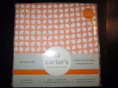 Peach and White Dot Pattern Crib Dust Ruffle by Carter's, (Crib Dust Ruffle Pattern)