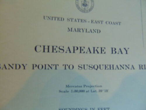 Waterways Chesapeake Bay Sandy Point Susquehanna River nautical chart US Coast