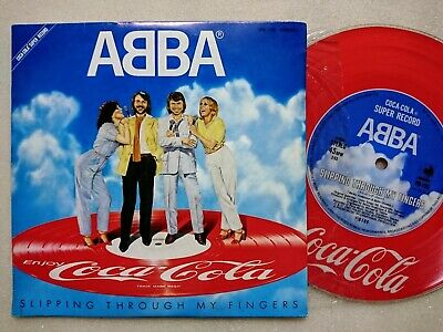 "ABBA Slipping Through My Fingers JAPAN 7"" COCA-COLA SUPER RECORD"