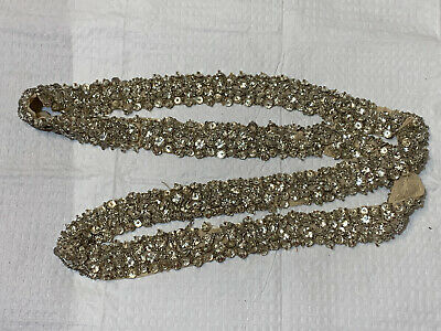 1 Metre Sequin Lace Ribbon Sew-on Available in Gold Silver Silver and Copper Gold 1.5cm Wide
