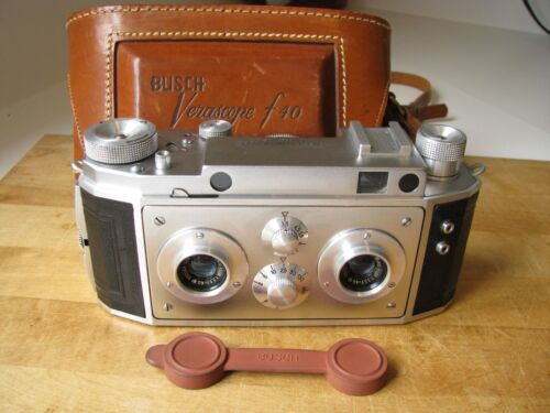 Busch Verascope F40 Stereo Camera by Jules Richard F40 Paris EXC+++