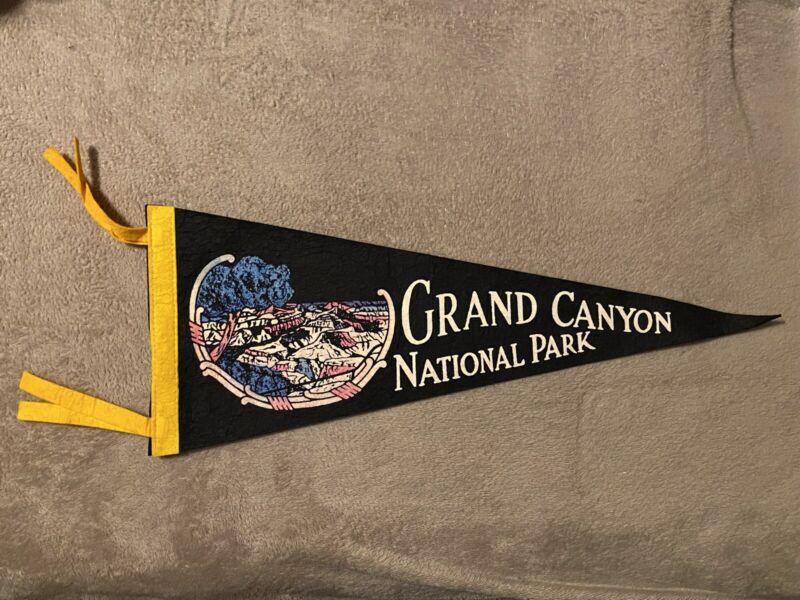 """Vintage Felt Grand Canyon National Park Arizona Pennant - 12"""" x 5"""""""