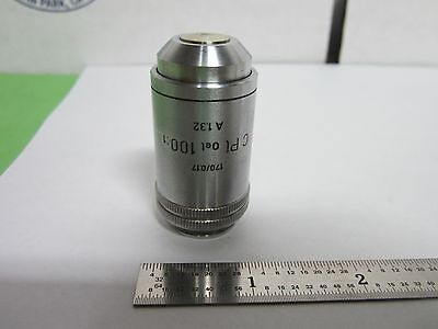 Microscope Part Objective Leitz C Pl Oel 100x Optics Binf2-26