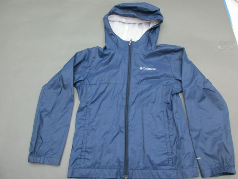 Columbia Size S (8-10) Boys Blue Full Zip Hooded Insulated Jacket 248