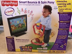 Fisher price smart bounce spin pony