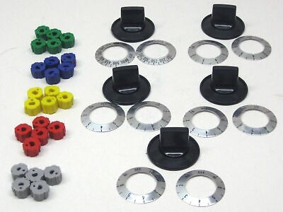 KN002 Universal Electric Range Oven Knob Handle Kit Color Bl