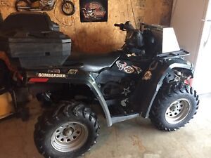 Can Am Outlander 400 4x4 with Rear Storage/Plow