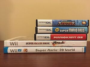 DS, Wii, 3DS, and Wii U games