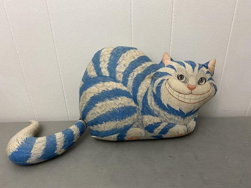 "20"" Alice in Wonderland Cheshire Cat Threshold Cat Shaped Accent Throw Pillow"