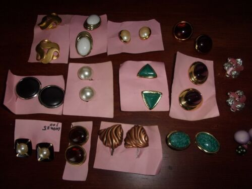 Lot of 14 pairs of clip on Earrings