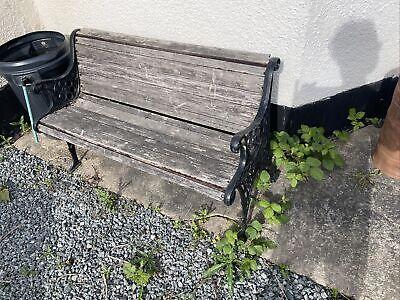 Cast Iron & Wood Garden/Outdoor Bench
