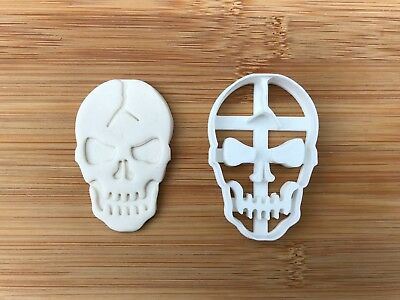 Halloween Uk Seller Plastic Biscuit Cookie Cutter Fondant Cake Decor Witch SKULL