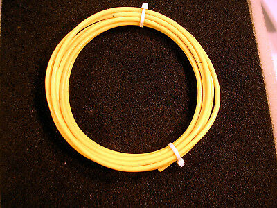 10 Awg Mil Spec M168784 Xe Ptfe Tefflon Silver Plated Wire 10 Feet Yellow