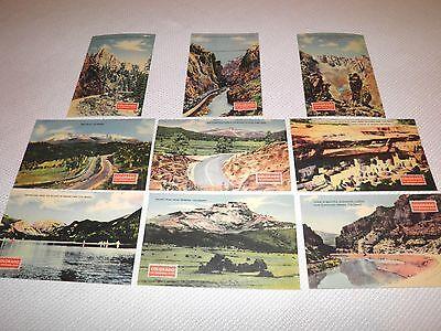 9 Old Linen Postcards of Colorado Mesa Verde etc. Vintage Linens Postcard Lot CO