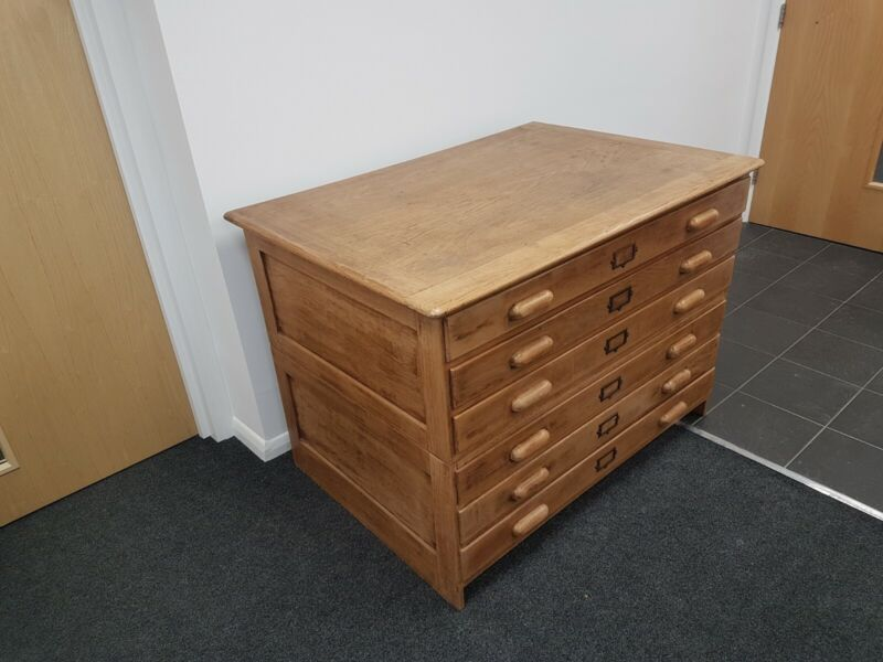 Vintage Architects, Draughtsman's Plan Chest with Drawing Board