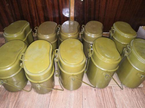 Original USSR Soviet Russian Army Mess Kit Canteen Millitary Cooking Pot 1 piece